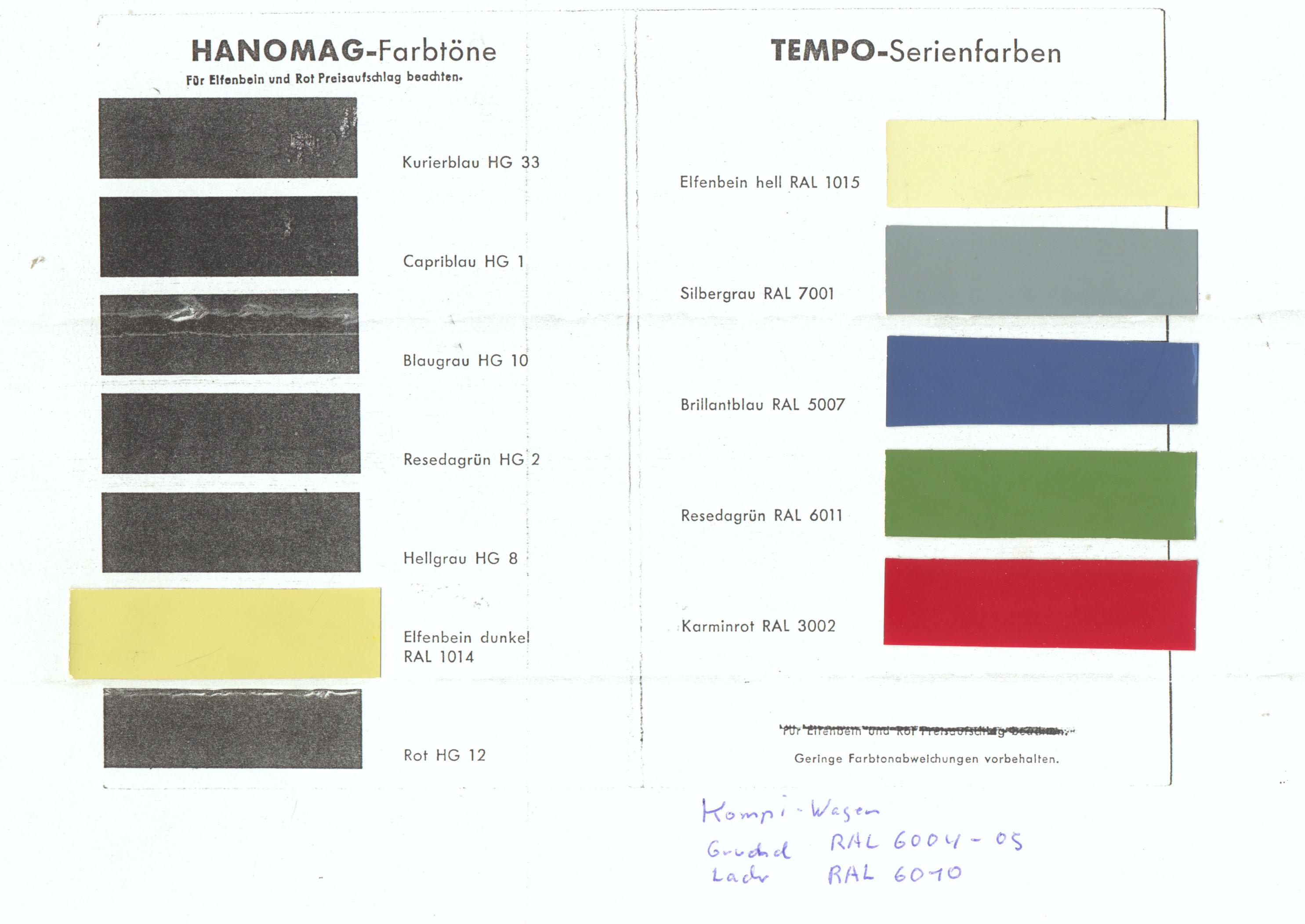 Bezaubernd Ral Farben Rot Referenz Von 1963 – 1966 Tempo Matador E